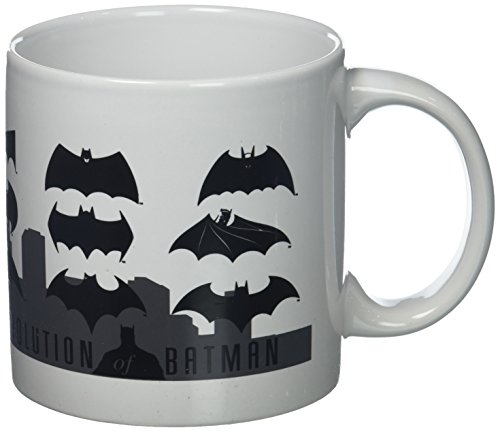 ICUP 7396 DC Batman Logo Evolution Mug, Multicolor