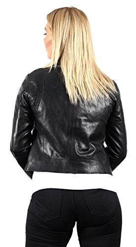 Brando Da Pelle In Nero Casuale Giacche Nappa Donna FYnxafxH
