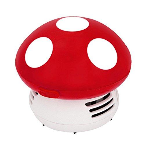 GOODCULLER Creative Cute Mini Mushroom Corner Desk Table Dust Vacuum Cleaner Sweeper Vacuum Cleaner Keyboard Dust Collector For