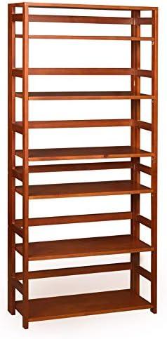 Regency Flip Flop 67-inch High Folding Bookcase- Cherry