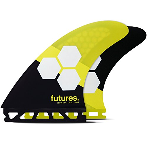 Futures Fins - AM2 HC Thruster - Yellow/Black ()