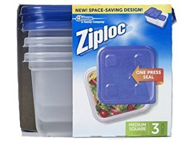 Ziploc Food Storage Container Set - 1.3 quart Food Container, Lid - Dishwasher Safe - Microwave Safe - Clear - 3 Piece(s) / Pack