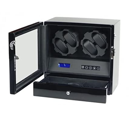 45443d5b0 Vitrina movimiento relojes Watch Winder 4 Negra Carbon fiber LCD LED Modelo  X205TC