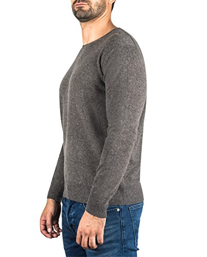 Uomo A 100 Cash Maglione ch Sweater Taupe s Girocollo Mélange mere Cachemire Da Pullover xxl qq8fXg