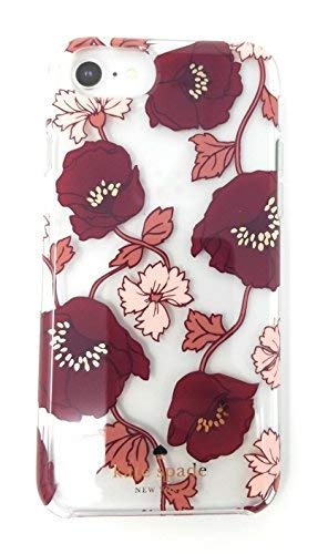 Kate Spade New York Dream Floral Red/Pink Gold iPhone Case (iPhone -