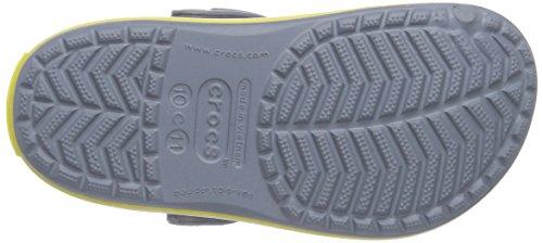 Gris Crocs Unisex chartreuse Zuecos Kids Niños concrete Crocband P4Pwz