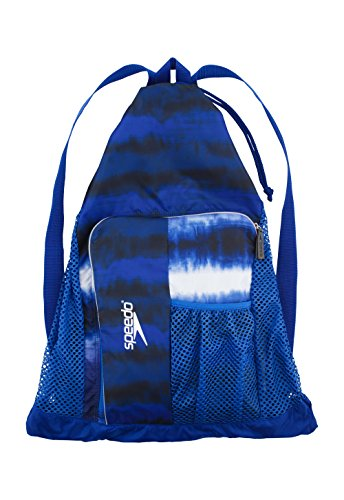 Speedo Deluxe Ventilator Mesh Bag, Tie Dye Royal, One - Swim Goggle Bag