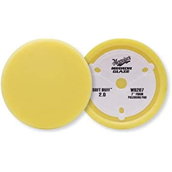 "Meguiar's W8207 Mirror Glaze Professional Soft Buff 2.0 7"" Foam Polishing Pad"