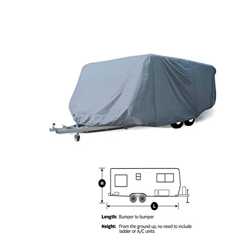 (SavvyCraft 11' -13' Travel Trailer Cover Breathable and Water Repellant RV Camper Cover)