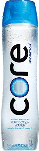 CORE Hydration, 30.4 Fl Oz (Pack of 12), Nutrient Enhanced Water, Perfect 7.4 Natural pH, Ultra-Purified With Electrolytes and Minerals, Cup Cap For Sharing