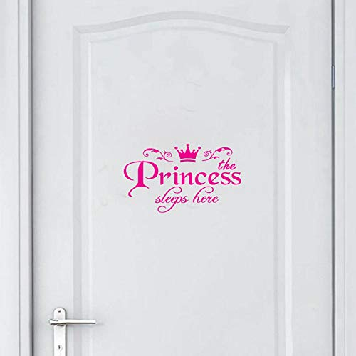 (Aayuj Wall StickerRemovable Princess Sleeps here Wall Stickers Art Vinyl Door Decals Home Baby Girls Kids Room Bedroom Dormitory Decor)