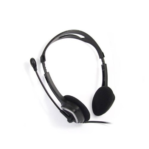 iMicro IM320 USB Headset with Adjustable Microphone Noise Cancelling, Wired Headphone for PC, - Usb Headset Clearchat