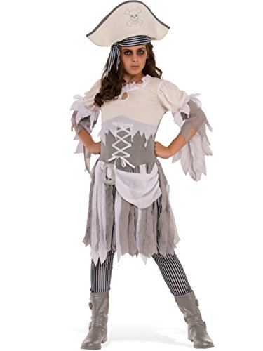 Rubies Costume Child's Ghostly Girl Pirate Teen Costume, Medium, Multicolor - Teen Girl Pirate Costumes
