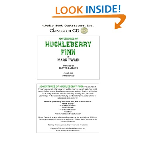 Adventures of Huckleberry Finn (Classic Books on CD Collection) [UNABRIDGED] Mark Twain and Grover Gardner (Narrator)