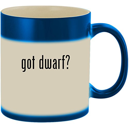 got dwarf? - 11oz Ceramic Color Changing Heat Sensitive Coffee Mug Cup, Blue