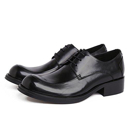 Santimon Mens Läderklänningen Oxford Spets-up Affärer Skor Svarta