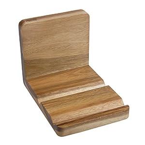 Jamie Oliver Bakeware Range Recipe Book And Tablet Holder, Acacia  Wood/Natural