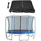 Upper Bounce Replacement Safety Enclosure Net, Fits 13' Round Trampoline, Using 6 Curved Poles with Top Ring Frame