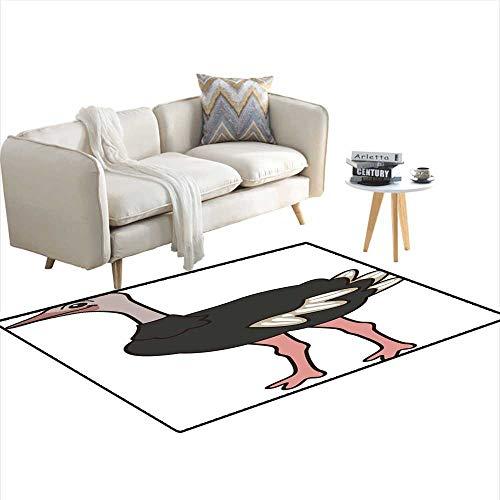 Ostrich Cross (Kids Carpet Playmat Rug Ostrich 3'x5')
