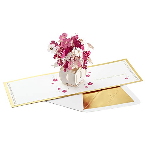 Hallmark Signature Paper Wonder Pop Up Card, Happy Thoughts Bouquet (Thinking of You Card, Birthday Card, Mother's Day Card) ()