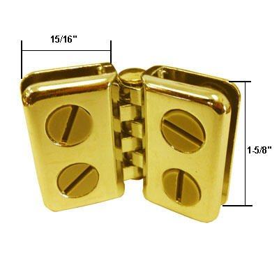 Brass Deluxe Hinge Display Connectors for 1/8