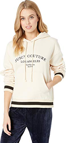 Juicy Couture Women's Juicy La French Terry Hooded Pullover Cr¿Me Brulee X-Large ()
