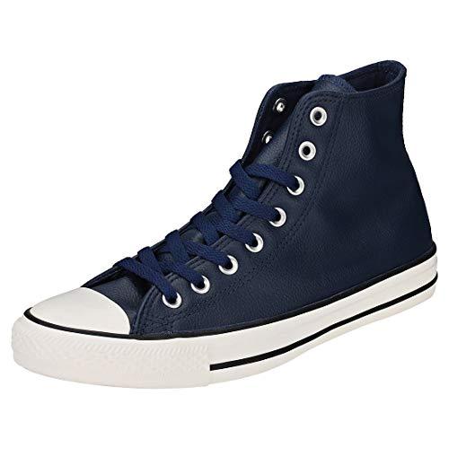 r All Star High Leather, Adult Unisex, Navy/Navy/Egret (11 Women / 9 Men M US) ()