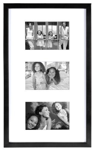 MCS 10x17 Inch East Village Collage Frame with 3-4x6 Inch Ma