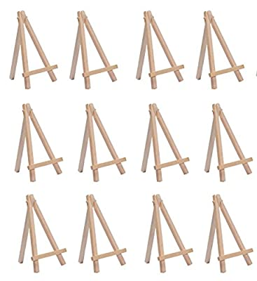 SL crafts 3.5Inch By 6.25 Inch Mini Wooden Easels Display (Pack of 12 Easels) from Yongkang juxuan trading Co.