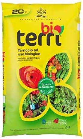 Sustrato orgánico Terri Bio para hortalizas aromáticas flores Giardini–Saco de 70l