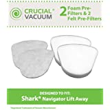 2 High Quality Filter Kits for Shark Navigator Lift-Away Vacuums; Includes HEPA, Foam and Felt Filters; Compare to Part Nos. XHF350, XFF350; by Think Crucial