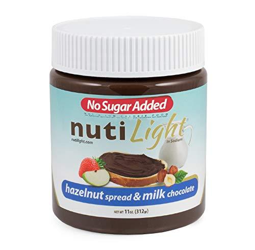 - Nutilight - No Sugar Added - Hazelnut Spread & Milk Chocolate - 11 oz Jar