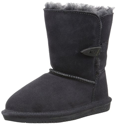 Bearpaw Abigail Charcoal Unisex Kids Shearling Boot Size 1M by BEARPAW (Image #1)