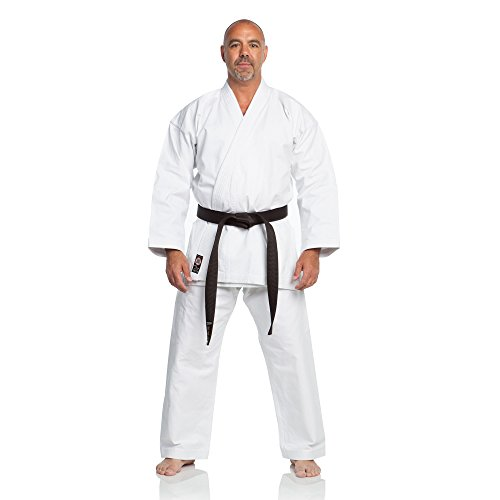Canvas Heavyweight Belt - Ronin Brand 12oz. Traditional Heavyweight Karate Uniform (White, 3)