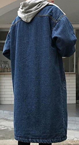 Parka Coat Fleece 1 Classic Denim Button UK today Collar Midi Jacket Women t0qwnFvTA