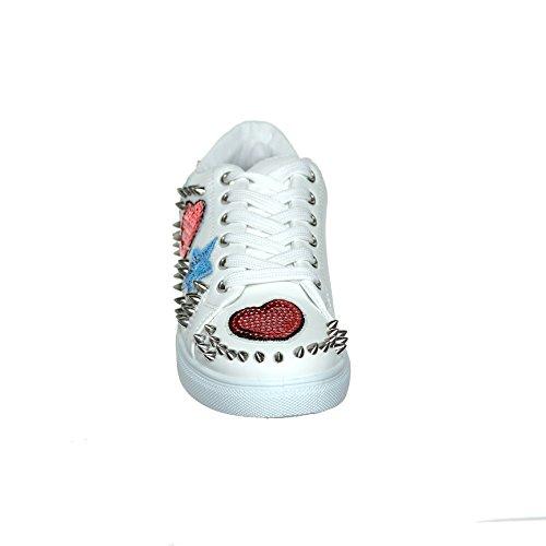 Shoewhatever Nouvelle Arrivée !! Femmes Graphiques Designer Lacets / Slip-on Sneaker De Mode Blancg