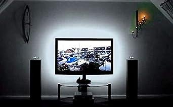 Cordon Tira led de 3 m y puerto USB de 180 leds autoadhesiva blanco frio para TV, monitor, espejos, cocinas, baños, oficinas, interior muebles, cristaleras, armarios, de CHIPYHOME
