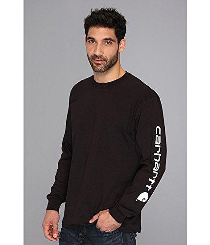 Carhartt Men's Signature Sleeve Logo Long Sleeve T Shirt K231 SML Black ()