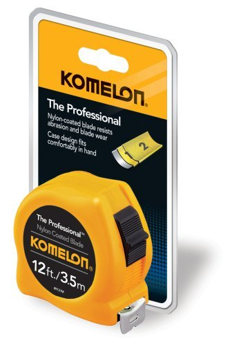 Komelon 4912IM The Professional 12-Foot Inch/Metric Scale Power Tape, Yellow Model: 4912IM Tools & Home Improvement