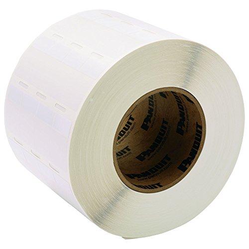 Panduit S100X150VATY Thermal Transfer Self-Laminated Label, Vinyl, 3-Inch Core, White (5,000-Pack)