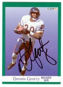 Dennis Gentry autographed Football Card (Chicago Bears) 1991 Fleer #219 - NFL Autographed Football Cards