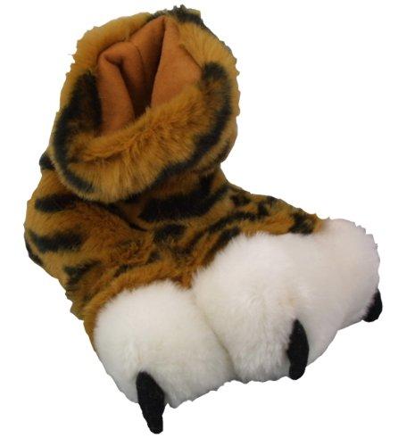 Stride Rite Boys 2-7 Tiger Paw Slipper, Beige, 9/10, My Pet Supplies