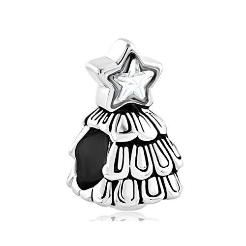 - Roy Lopez Guiding Star Christmas Tree Charm Beads for Charm Bracelet