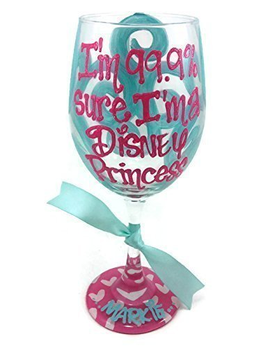 hand-painted-wine-glass-im-999-sure-im-a-disney-princess-personalized-hot-pink-and-light-blue
