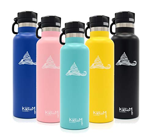 KuLM Outdoors Stainless Steel Vacuum Insulated Water Bottle with BPA Free Lids from KuLM Outdoors