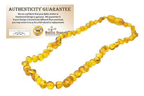 Baltic Amber Teething Necklace for Babies Polished Honey Bab