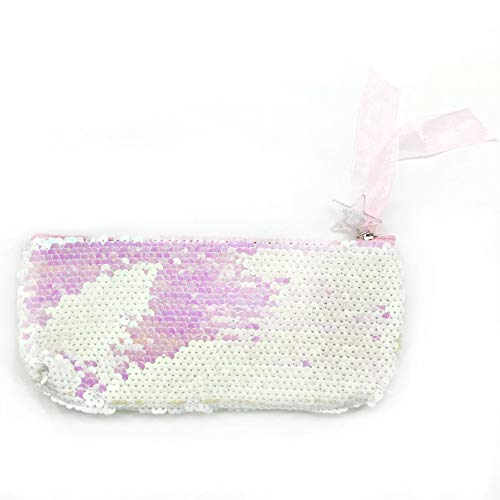Xisheep Women Girls Fashion Double Color Sequins Pen Bag Storage Bag Ladies Purse Pouch