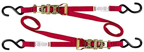 Ancra 47439-10 Red 1 x 66 Ratcheting Buckle Tiedowns by Ancra