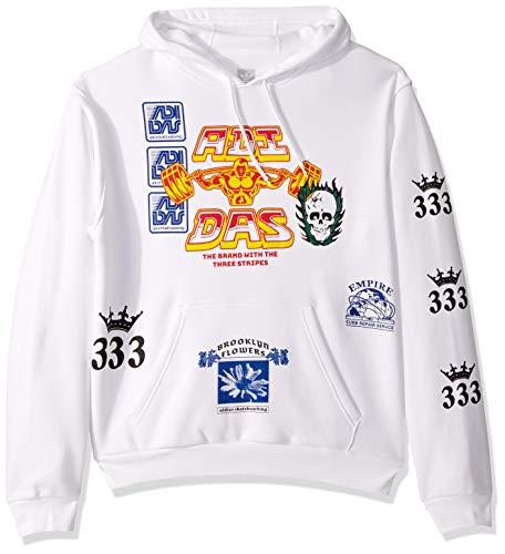 adidas Originals Men's Skate Test Print Hooded Sweatshirt, White/Multi, Small ()