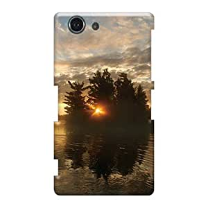 Shock Absorbent Cell-phone Hard Covers For Sony Xperia Z3 Mini With Support Your Personal Customized Beautiful Lake Of The Woods Ontario Image PhilHolmes